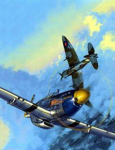 P-51 y Spitfire