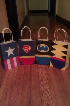 super hero party bags. $25.00, via Etsy.