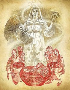 """the last Friday in October, in the calendar of our ancestors is """"Babin Friday"""", the autumn feast of the goddess Mokos. She is the Goddess in Slavic mythology, the mother of damp earth and the bright sun, goddess of fertility, protector of women, weavers of fate. Mokoš the personification of Mother Nature and her fertility."""
