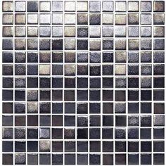 ROCCIA supply this tile www.roccia.com Onix GlamGlass | Roccia Black mosaic tile.