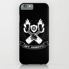 Hey, Assbutt! iPhone & iPod Case #supernatural #spn #castiel