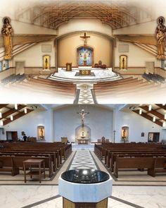 Church lighting with Beam Me Up Suspended Middelalder