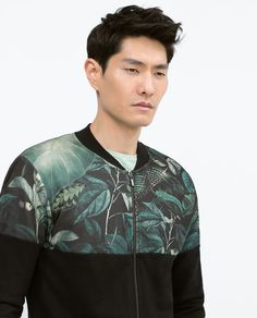 New Collection Online Zara Man, Jacket Brands, Zara United States, Print Jacket, Fashion Books, Mens Clothing Styles, Mens Sweatshirts, Cool Outfits, Men Casual