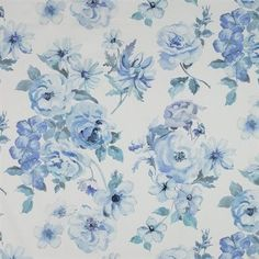 Ideal wallpaper: blue and white floral!!
