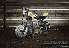 Honda - It's the parts that make the bike | #ads #marketing #creative #werbung #print #poster #advertising #campaign < repinned by www.BlickeDeeler.de | Follow us on www.facebook.com/blickedeeler