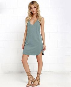 Spaghetti Strap Loose V-neck Dress