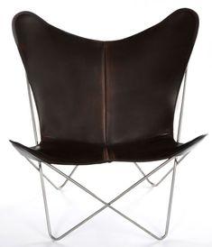 OxDenmarq Armchair Trifolium - Stainless Steel Frame - Leather - Mocca |  https://designonline24.nl