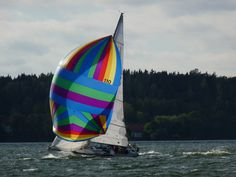Bright colorful spinnaker