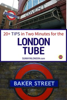 20+ Tips for the London Tube (Underground) in Two Minutes! This is for anyone visiting London who wants travel advice from an American expat living in London.