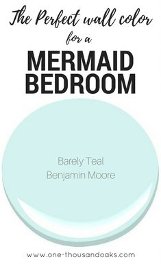 This is the perfect Mermaid Bedroom Paint color! It creates a relaxing coastal f… This is the perfect Mermaid Bedroom Paint color! It creates a [.