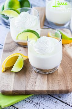 Lime Cheesecake Parfaits on Deliciously Sprinkled