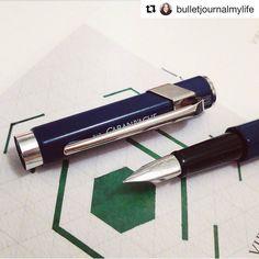 Sjekk denne vakre fyllepennen fra Caran dAche med Chromatics blekk  @bulletjournalmylife  @tudosno