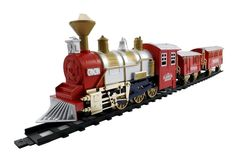 Amazon.com: Classic Train Set for Kids with Smoke, Realistic Sounds, 3 Cars and 11 Feet of Tracks (13 pcs): Toys & Games