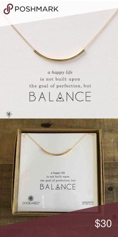 """Balance necklace in 14k gold fill Brand new - Balance necklace in 14k gold fill.  18"""" in length.  Classic style.  Necklace does not include original box or card. Dogeared Jewelry Necklaces"""