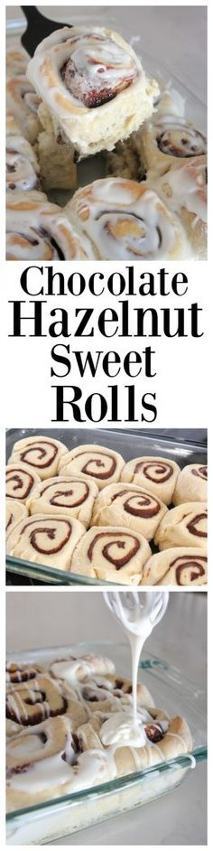 Chocolate Hazelnut Sweet Rolls, you don't want to miss these!! #sponsored  #BakeALittleExtra