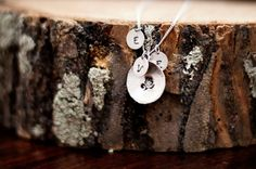 Sterling silver hand stamped personalized charm by bellefamille, $40.00