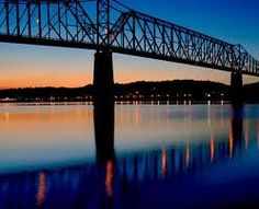 ohio river in the evening