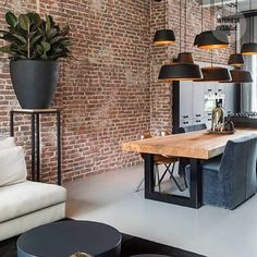 Modern interior design brilliant loft interior designs that inspire you . - Modern interior design brilliant loft interior designs that inspire you - Dining Room Sets, Cosy Dining Room, Luxury Dining Tables, Patio Dining, Patio Table, Dining Chairs, Dining Decor, Lounge Decor, Table Seating
