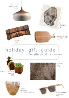 holiday gift guide : all natural | LindyJacoby.com
