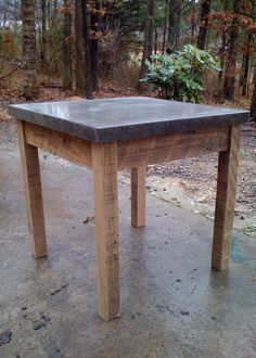 Concrete End Table.