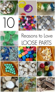 10 Reasons To Love Loose Parts An Everyday Story 10 Reasons To Love Loose Parts Day 25 30 Days To Transform Your Play Play Based Learning, Learning Through Play, Early Learning, Learning Activities, Preschool Activities, Kindergarten Learning, Steam Activities, Preschool Curriculum, Teaching Strategies