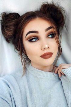 33 Easy Makeup for College in diesem Herbst - Makeup and Beauty - Make-up Prom Makeup, Cute Makeup, Gorgeous Makeup, Simple Makeup, Hair Makeup, Makeup Tips, Makeup Ideas, Amazing Makeup, Makeup Tutorials