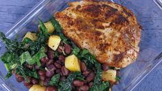 Caribbean Chicken with Black Bean Salad. By Bobby Parrish A make-ahead dinner of fresh, bright flavors.