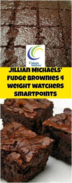 Jillian Michaels' Fudge Brownies I 4 it weight watchers smartpoints Weight Watchers Brownies, Weight Watchers Snacks, Weight Watchers Tipps, Weight Watcher Desserts, Weight Watchers Smart Points, Weight Watcher Dinners, Weight Watchers Cupcakes, Ww Recipes, Low Calorie Recipes