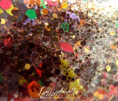Lynnderella Limited Edition—If Wishes Were Turkeys... Brown glitter with assorted green, orange, red and yellow accents and intense gold shimmer and microglitters.