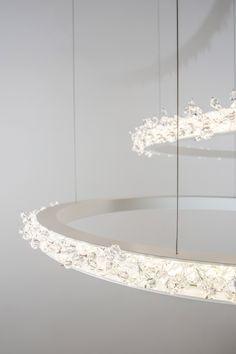 Halo crystal chandelier www.manooi.com #crystal #chandelier #crystalchandelier #luxury #lighting #design #LED #lamp #interior #interiordesign #home #decor #Manooi