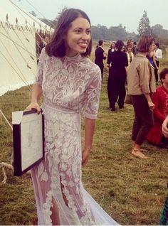 Hermione de Paula white lace