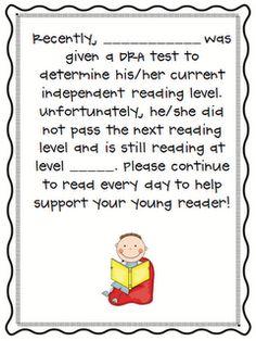 Reading letter for parents