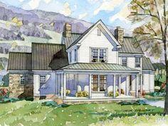 farmhouse house plans Outside house ideas Pinterest