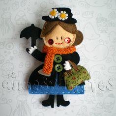 Mary Poppins de fieltro