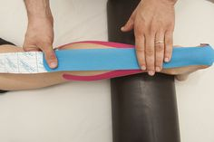 Kinesio Taping - achilles tendonitis treatment with gastrocnemious muscle relaxation  קינזיו טייפינג - טיפול לדלקת בגיד אכילס משולב עם הרגעה של שריר התאומים