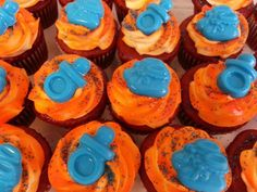 Broncos Baby Shower Cupcakes