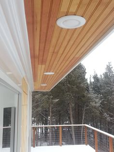 LED exterior soffit lighting should be installed wherever you need outside lights. They are sheltered from the harsh new england weather and will far outlast any ordinary wall sconce you may have installed.
