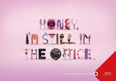 Vodafone Print Advert By Jung von Matt: Honey Creative Advertising, Advertising Agency, Typography Ads, Le Book, Ad Of The World, Guerilla Marketing, Illustrations, Guerrilla, Print Ads