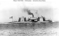 Here's an image of the Keokuk. Robert Smalls piloted this ship into the disastrous Battle of Charleston. The experimental hull on this ship proved no match for the guns of Ft. American Civil War, American History, Brown Water Navy, Fort Sumter, Monitor, Confederate States Of America, Navy Ships, Historical Pictures, Battleship