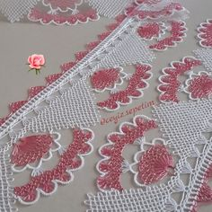 This Pin was discovered by Nur Crochet Doilies, Knit Crochet, Hairstyle Trends, Point Lace, Needle Lace, Lace Making, Needlepoint, Tatting, Diy And Crafts