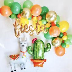 Gold Fiesta Script Fiesta Balloon Garland Fiesta Script Fiesta Balloons First Fiesta Balloons Llama Balloons Llama Party Final Fiesta 2 Birthday, Llama Birthday, Boy Birthday Parties, Themed Parties, Birthday Ideas, Balloon Garland, Balloons, Cactus Balloon, Balloon Shop
