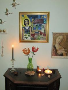 Home altars are simple, fun and inspiring to create. You can be Catholic, Buddhist or not religious at all to benefit from a sacred space in your home.