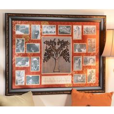 """Spice Red Family Tree Collage Photo Frame reads """"Family - the ones we live for, laugh with, & love"""""""
