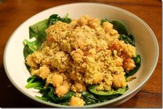 Chickpea quinoa salad: this is oddly enough a yummy comfort food.  JM approved and I really didn't think he would!