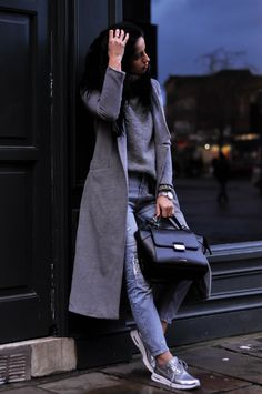 Ioana Grama Rise and Shine wearing YVY Bags Women Wear, Normcore, Street Style, Style Inspiration, Lady, Coat, Womens Fashion, How To Wear, Jackets