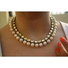 Online Shopping for Kundan and Pearl Neckpiece   Necklaces   Unique Indian Products by Ruby Raang - MRUBY98269499170