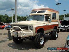 1977 Chevrolet Cheyenne Blazer: With Chalet Camper Chevy 4x4, Jeep Pickup, Chevy Pickups, Chevrolet Trucks, Chevy Blazer K5, K5 Blazer, Gm Trucks, Cool Trucks, 4x4 Van For Sale
