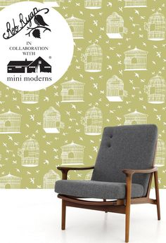 This is our first collaboration with artist Rob Ryan - featuring his unmistakable paper cut imagery. The intriguing title of this wallpaper is incorporated in the design as individual words car...