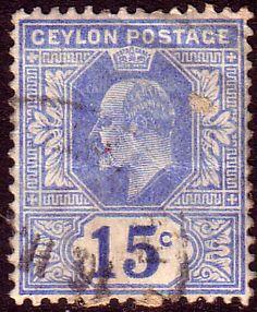 Ceylon 1904 King Edward VII Head SG 283 Fine Used SG 283 Scott 185 Other Sri Lanka Stamps Here