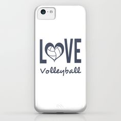 Love Heart Volleyball (blue) iPhone  iPod Case